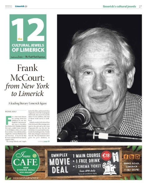 an introduction to the life of frank mccourt Angela's ashes frank mccourt  of angela's ashes is presented as a dream sequence the narrator's surreal perceptions of american life—men dressed.
